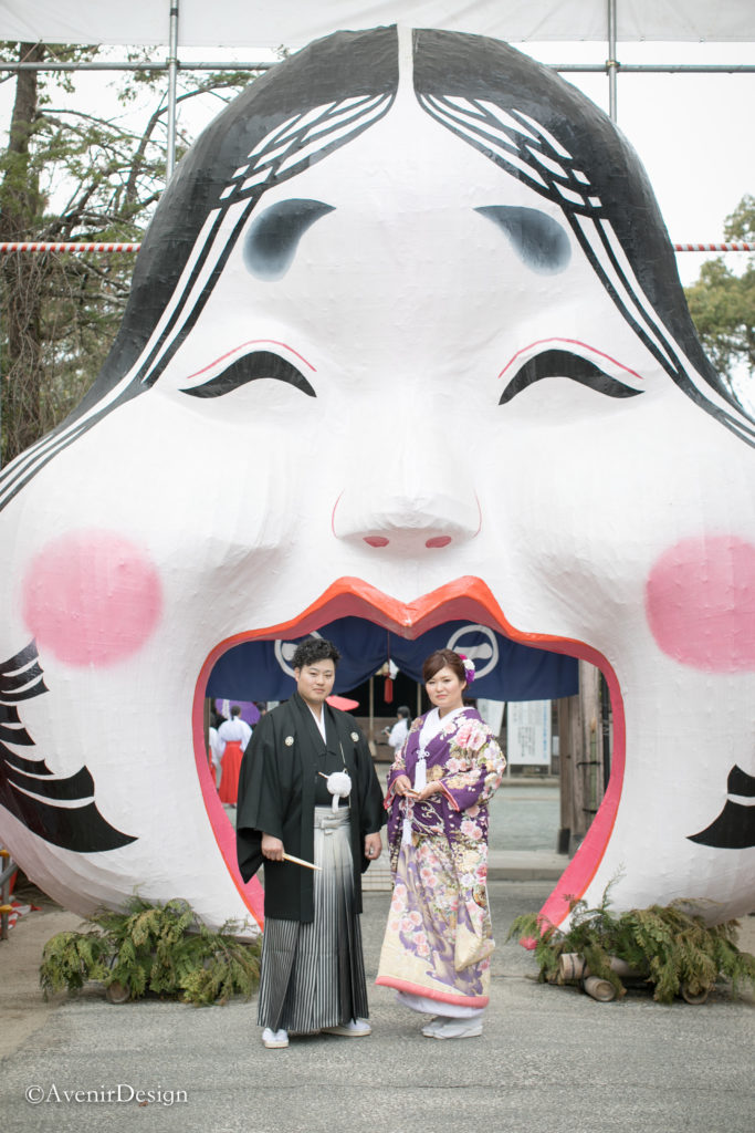 柳川市の日吉神社 和装前撮り