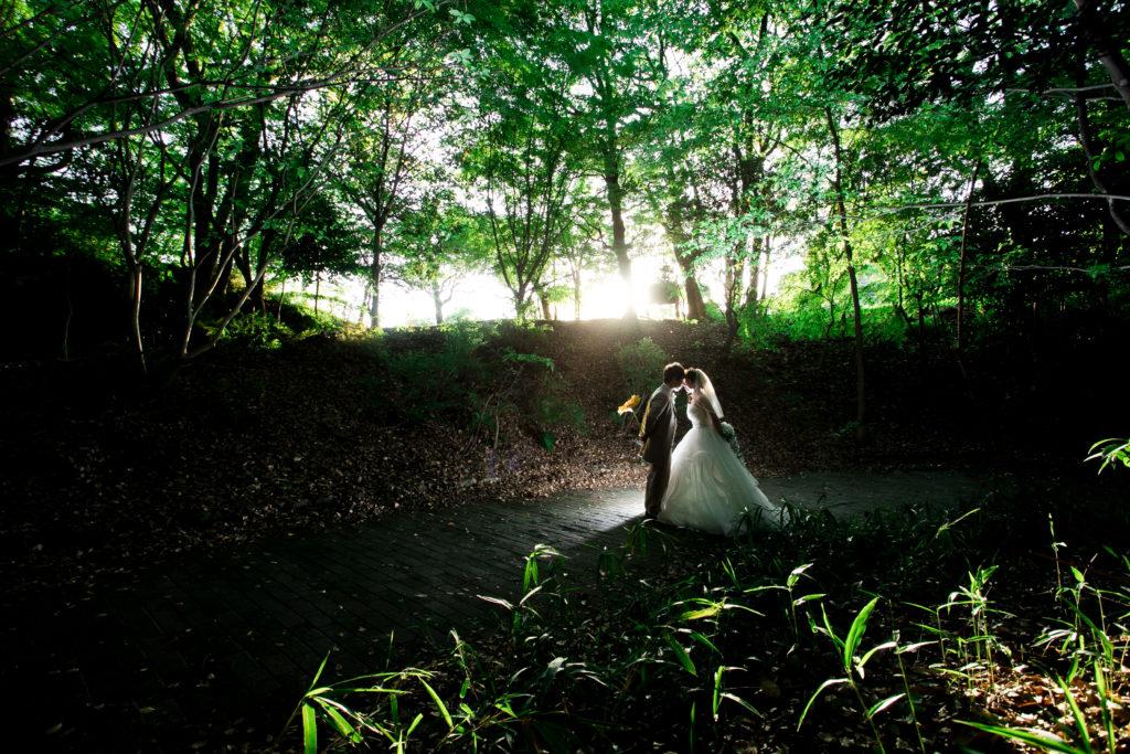 結婚式の前撮り写真 大牟田市延命公園