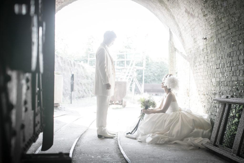 ウェディングドレスの前撮り写真 万田杭荒尾市