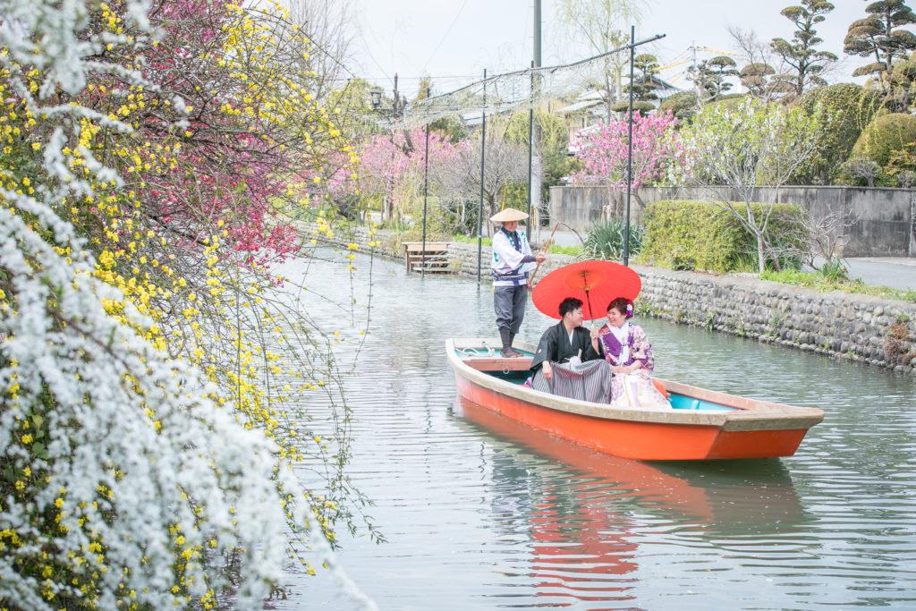 和装前撮りロケーション撮影 柳川の川下り