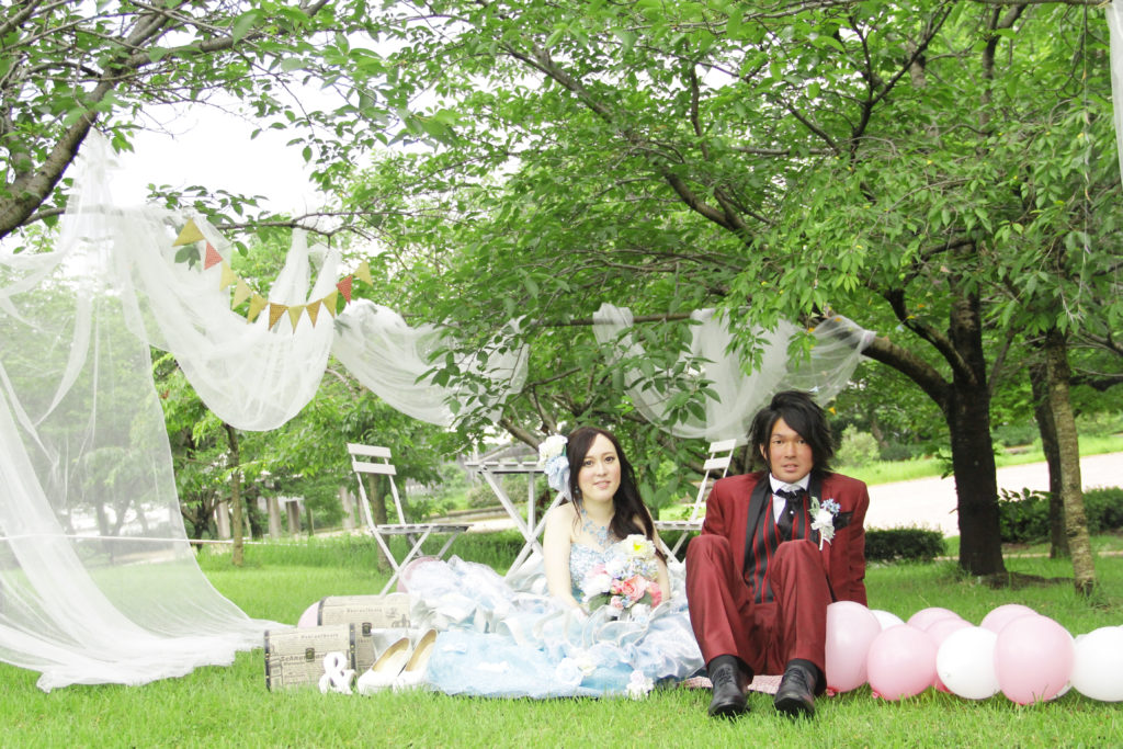 大牟田市の諏訪公園 結婚式前撮り写真