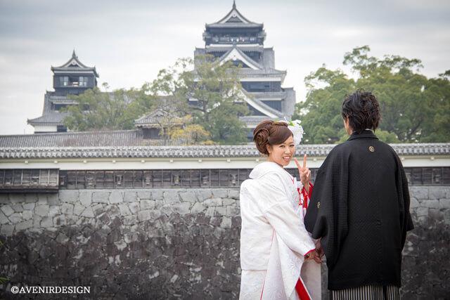 熊本|熊本城|和装前撮り
