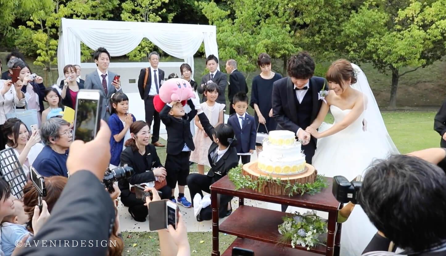結婚式ビデオ撮影の写真